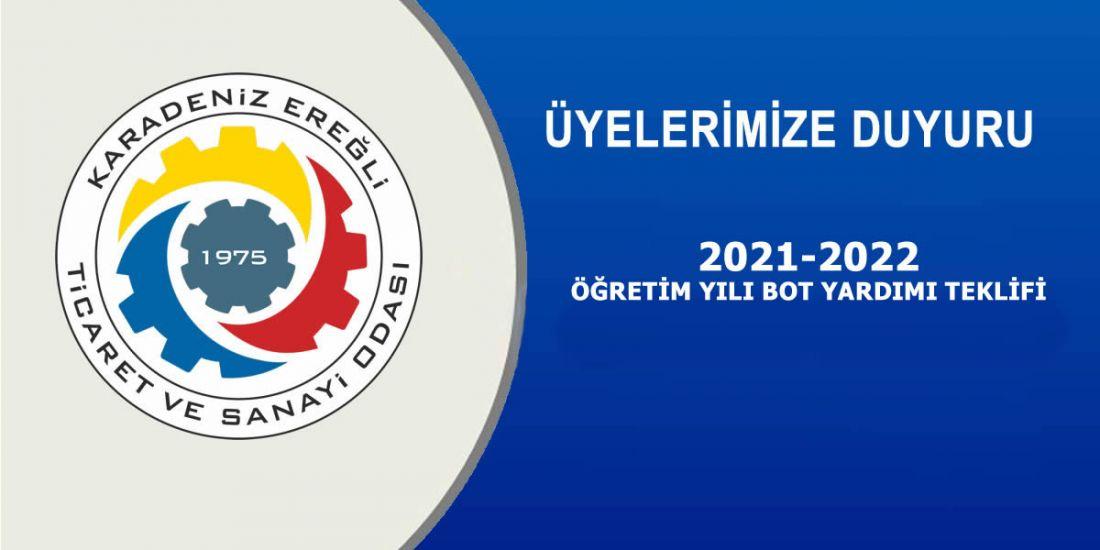 2021-2022 ÖĞRETİM YILI BOT YARDIMI TEKLİFİ