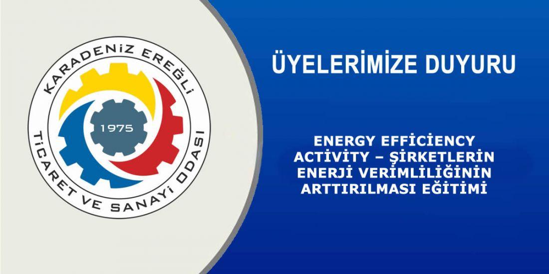 ENERGY EFFİCİENCY ACTİVİTY – ŞİRKETLERİN ENERJİ VERİMLİLİĞİNİN ARTTIRILMASI EĞİTİMİ