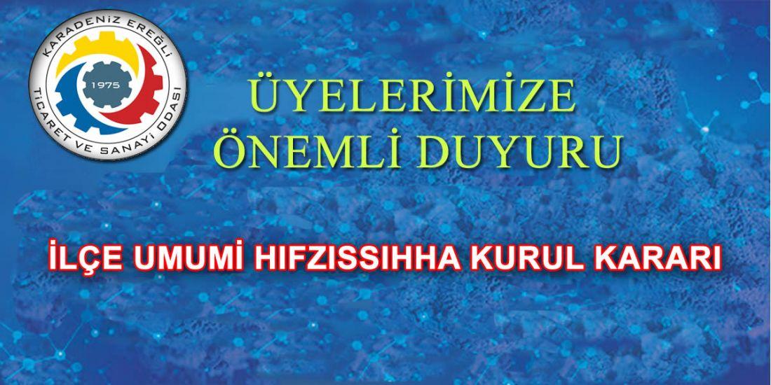 İLÇE UMUMİ HIFZISSIHHA KURUL KARARI