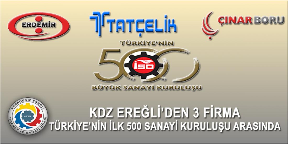 İSO 500'DE KDZ EREĞLİ TSO'DAN 3 ŞİRKET YER ALDI