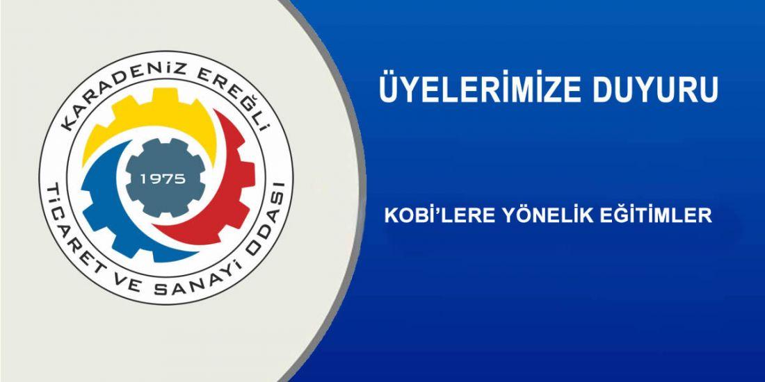 KOBİ'LERE YÖNELİK EĞİTİMLER