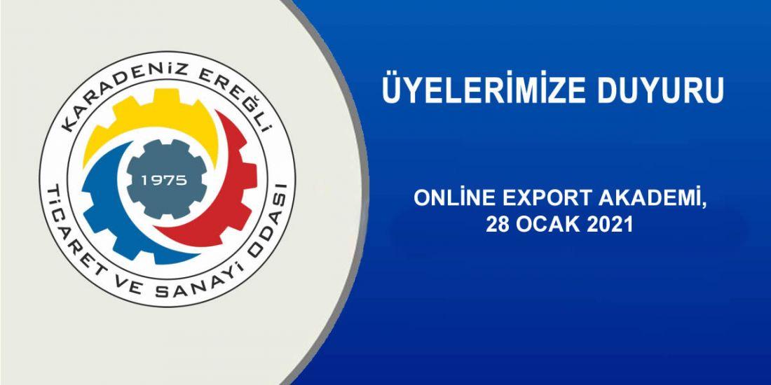 ONLİNE EXPORT AKADEMİ, 28 OCAK 2021
