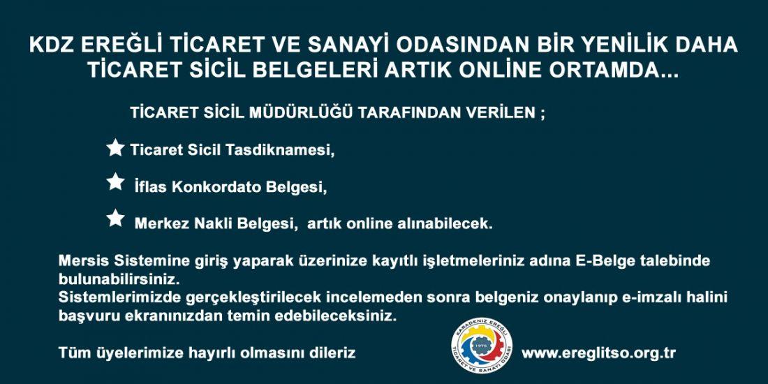 TİCARET SİCİL BELGELERİ ARTIK ONLİNE ORTAMDA..
