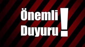 ODAMIZDAN, ÜYELERİMİZE ÖNEMLİ DUYURU!