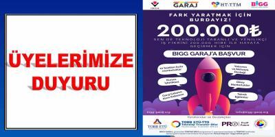 BİGG GARAJ 2020/1 TANITIM DUYURUSU