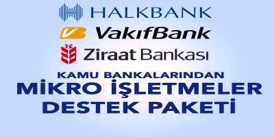 KAMU BANKALARI'NDAN KOBİ'LERE YÖNELİK MİKRO İŞLETMELER DESTEK PAKETİ
