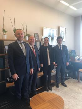 Kdz. Ereğli Ticaret ve Sanayi Odası Yönetim Kurulu Başkanı Arslan Keleş Cumhurbaşkanı Başdanışmanı Sn.Saadet Oruç'a Ankara'daki makamında ziyaret etti.