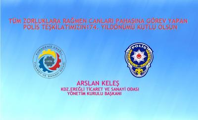 POLİS TEŞKİLATIMIZIN 174. YIL DÖNÜMÜ KUTLU OLSUN