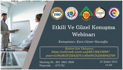 """"""" ETKİLİ VE GÜZEL KONUŞMA"""" WEBİNARI"""