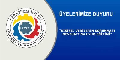 """""""KİŞİSEL VERİLERİN KORUNMASI MEVZUATI'NA UYUM EĞİTİMİ"""" VERİLECEK"""